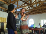 Mercy (pictured with Maeghan Ray Orton from Medic Mobile) at UMCom workshop in Malawi